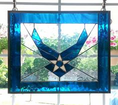 United States Air Force Stained Glass by RavenRockGlassStudio