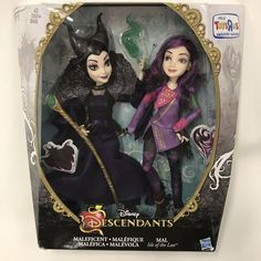 New Disney Descendants Maleficent & Mal Isle of the Lost Exclusive Dolls Hasbro for sale online Disney Baby Dolls, Baby Doll Toys, Baby Disney, Sparkly Slime, American Girl Doll Movies, Disney Descendants Dolls, Diy Projects For Men, Bear Crafts, Dreamworks Dragons