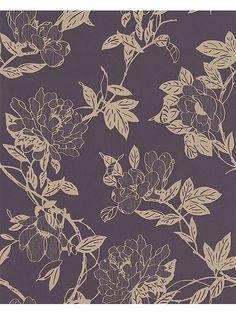 Purple amethyst/gold jiao wallpaper