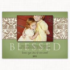 blessed - this is a great family holiday card for either Christmas, thanksgiving or whatever holiday you send cards for!