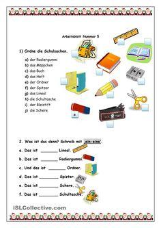 One-click print document Foreign Language Teaching, German Language Learning, French Worksheets, Alphabet Worksheets, German Resources, Germany Language, German Grammar, Learn German, Preschool Math