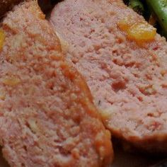 This is a traditional ham loaf with a wonderful sauce. - Pineapple Ham Loaf