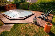 Abri piscine hors sol fermé