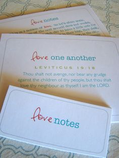 love note printables