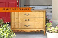 Gold and Glazed French Dresser ~ Redouxinteriors