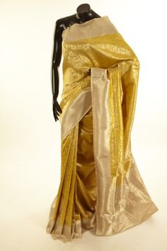 Banarsi- silk mustard saree with blouse