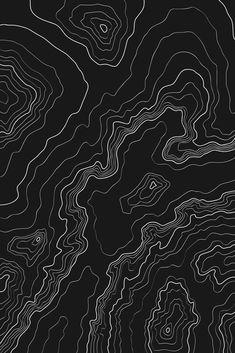 Black & White Topography Map Framed Art Print by Mydream - Vector Black - Black Aesthetic Wallpaper, Aesthetic Backgrounds, Aesthetic Wallpapers, Artistic Wallpaper, Aesthetic Black, Whats Wallpaper, Black Wallpaper, Map Wallpaper, Framed Maps