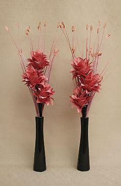 Silk flowers sarasota best faux flower ideas on pinterest fake artificial silk set of plum dragon flower in black ceramic mightylinksfo
