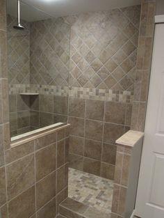 Bathroom Walk In Showers Designs +. No Doors Design, Pictures, Remodel, Decor…