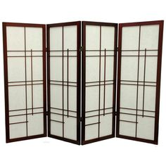 Oriental Furniture Low Eudes Shoji Screen Room Divider -  48 inch | from hayneedle.com