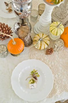 Pinterest Entertaining: Autumn Tablescapes