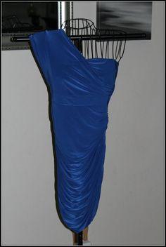 SUMMER! Forever 21 Cobalt Blue 1Shoulder Poly Blend Size Small Petite Dress #FOREVER21 #OneShoulder #Clubwear