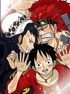 Supernova monster trio 3 rookie Captains Trafalgar D. Water Law, Monkey D. Luffy , Eustass Kid One piece