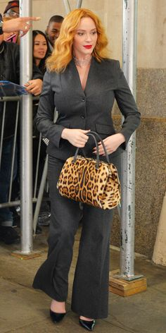 Birthday Girl, Christina Hendricks, Shows Us How to Dress Your Curves - Smart Tailored Suiting from InStyle.com