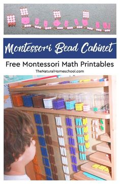 Montessori Bead Cabinet ~ Free Montessori Printables - The Natural Homeschool Montessori Preschool, Montessori Elementary, Montessori Education, Gifted Education, Preschool Curriculum, Preschool Classroom, Homeschooling, Elementary Teacher, Education Quotes