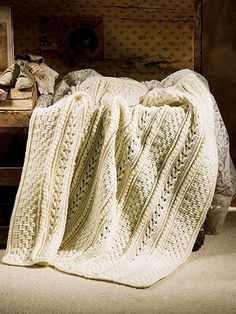 Crochet an Heirloom Aran Afghan. //  I WOULD LOVE TO FILL OUR HOME WITH ARAN AFGHANS!!!  ♥A