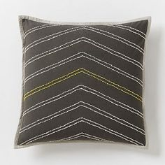 "Jay Street Bergen Pillow Cover - Slate #westelm  18"", $39 PILLOW INSERT SOLD SEPARATELY"