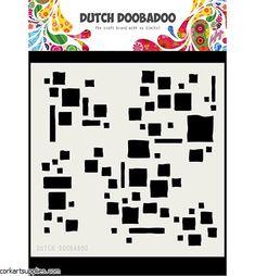 One flexible pre-cut acrylic mask stencil. The stencils Sponge Rollers, Masks Art, Dutch, Stencils, Squares, Crafts, Manualidades, Dutch Language, Bobs