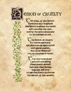 """Demon of cruelty"" - Charmed - Book of Shadows Charmed Spells, Charmed Book Of Shadows, Wiccan Spell Book, Witch Spell, Magick Spells, Witchcraft, Demon Spells, Halloween Spell Book, Spells For Beginners"