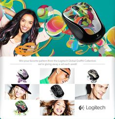 Win your favorite pattern from the Logitech Global Graffiti Collection we're giving away a set each week!