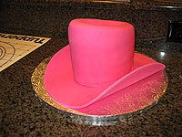 I made a cowboy (girl) hat cake for a 3rd b day party.  I shaped my hat a little different but this tutorial helped me get started.  The cake is so cute.
