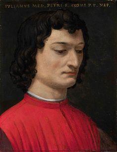 Bronzino - portrait of Giuliano di Piero de Medici in the Uffizi, Florence