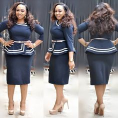 Rock your fashion world with our new arrivals of Turkey wears,making you look unique and fabulous is our priority. African Attire, African Wear, African Dress, African Print Fashion, African Fashion Dresses, Fashion Outfits, Cute Church Outfits, Full Figure Dress, Office Dresses For Women