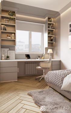 Small Room Design Bedroom, Girl Bedroom Designs, Room Ideas Bedroom, Home Room Design, Home Office Design, Home Office Decor, Home Interior Design, Bedroom Decor, Home Decor