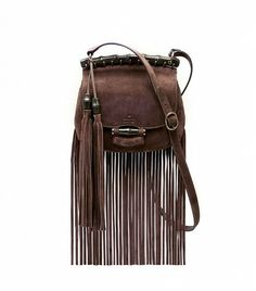 @Who What Wear - Gucci Nouveau Fringe Suede Shoulder Bag ($1950)  ​The tassel and bamboo details on this fringe bag are flawless.