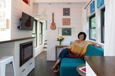 Choose Tiny House Interior Layouts For Greatest Efficiency Best Tiny House, Modern Tiny House, Tiny House Design, Tiny House On Wheels, Small House Plans, Container House Design, Container Homes, Tiny House Trailer, Tiny Living