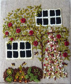 etui cottage panel veg garden by love stitch - Embroidery Garden