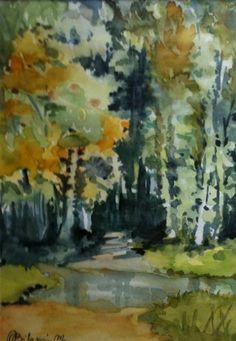 Foresta, 2006, Maria Biloni, watercolor, 20 x 30