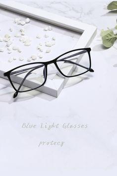 blue light blocking anti glare glasses Anti Glare Glasses, Titanium Glasses, How To Relieve Headaches, Eye Strain, Glasses Frames, Eyewear, Lenses, Light Blue, Women