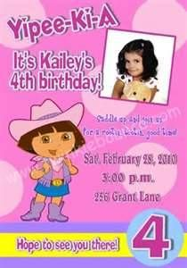 invitations :: dora the explorer birthday party invitations picture by ...