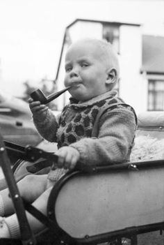 ... talk about an old soul, lol!http://pinterest.com/toddrsmith/boards/ | - baby - pipe Frm Todd R. Smith's bd: B A B Y - Sleeping & Awake!
