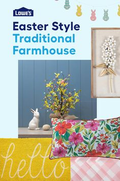 Transform your Easter tablescape into a traditional farmhouse wonderland with our selection of décor!