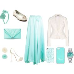 """Turquoise & White!!!!"" by kdanibragg on Polyvore"