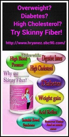 www.hryanez.sbc90.com  Skinny Fiber  Weightloss, Diabetes, High Cholesterol.   What is Skinny Fiber?  This page tells you all about it!  www.hryanez.skinnyfiberplus.com/ .  More recipes, beauty tips, fitness and motivation at  https://www.facebook.com/groups/169574736544577/. Come join us!! :)