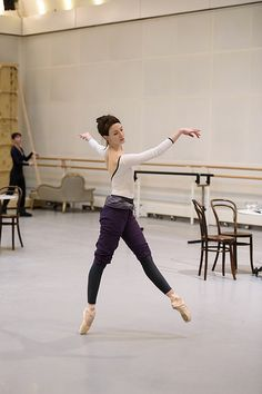 Lauren Cuthbertson in rehearsal for Strapless, The Royal Ballet © 2016 ROH. Photograph by Bill Cooper | by Royal Opera House Covent Garden