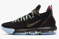 "7a6151f9675f2 2019 Nike LeBron 16 ""Watch The Throne"" Black Metallic Gold-Rose Frost  CI1518-001"