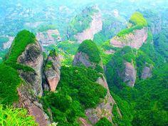 Danxia Landforms Shaping Magical Sights in China