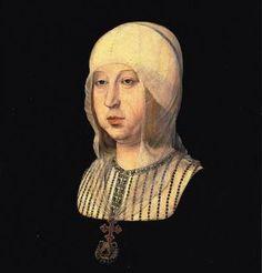 """""""Retrato de Isabel, a Católica""""       (by Juan de Flandes)."""
