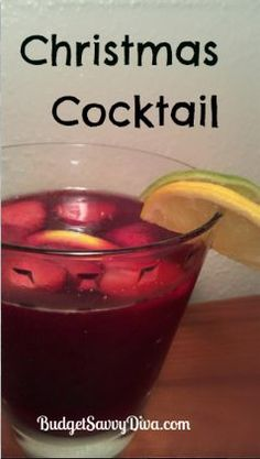 Christmas Cocktail, #Christmas, #Cocktail, #Drink