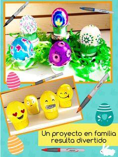 Disfruta estas fechas con tu familia. Te damos ideas para tu mesa. #manualidades #crafts  #pascua #easter