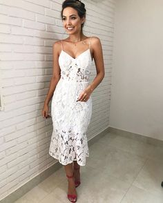 Mermaid Tea Length White Lace Party Dresses,Prom Dresses,Evening Dresses,Special Occasion Dresses sold by Dressmeet. Lace Party Dresses, Lace Dress, Evening Dresses, Formal Dresses, Wedding Dresses, Dress Up, Bridal Shower Dresses, White Bridal Shower Dress, Dress Party