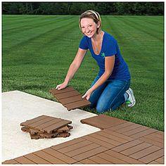 Interlocking Polywood Deck & Patio Tiles, 10-Pack