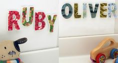 Spell out something special with alphabet tiles from Mooza Designs