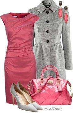 Cute dress and coat!