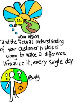 Your vision, your customers.... #startup