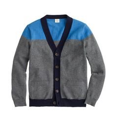 J.Crew - Boys' tipped cotton-cashmere cardigan in colorblock
